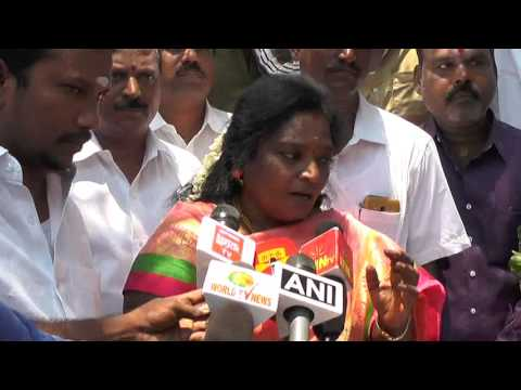 TNA NEWS TN BJP STATE PRESIDENT SALUTE DR AMBEDGAR BIRTHDAY AT CHENNAI CENTRAL 13 04 17