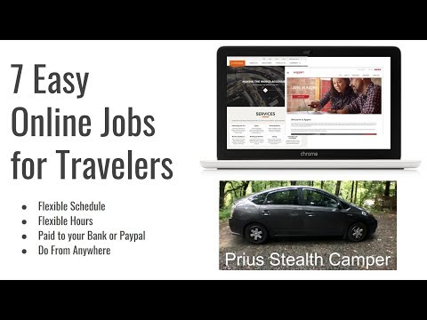 7 Easy Online Jobs for Travelers - Work from Anywhere, Car SUV Van Dwellers