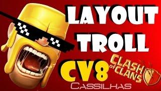Clash of Clans #41   Layout Troll Thug Life   CV8 na GUERRA... olha no que deu [PT-BR]