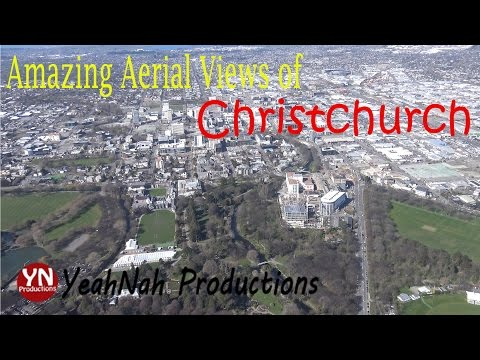 Amazing Aerial Views over Christchurch,  New Zealand