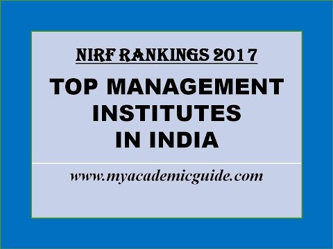 Top 25 Best MBA Management Colleges in India - 2017 Rankings