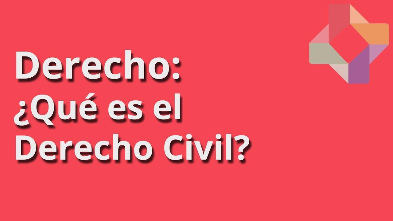 Qué es el Derecho Civil? - Derecho - Educatina - YouTube