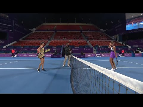 Madison Keys vs. Belinda Bencic | 2021 Doha Round 1 | WTA Match Highlights