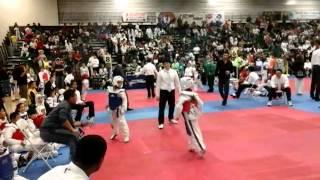 Manuel Tercero first time sparring tkd tournament