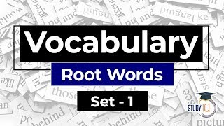 English Vocabulary, Get pro in Vocabulary with ROOT WORDS Set 1 for SBI IBPS RBI