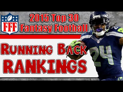 Preseason Top 30 Running Back Rankings || 2015 Fantasy Football