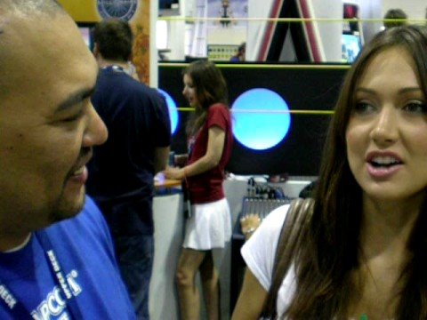jessica chobot interview at comic con 08