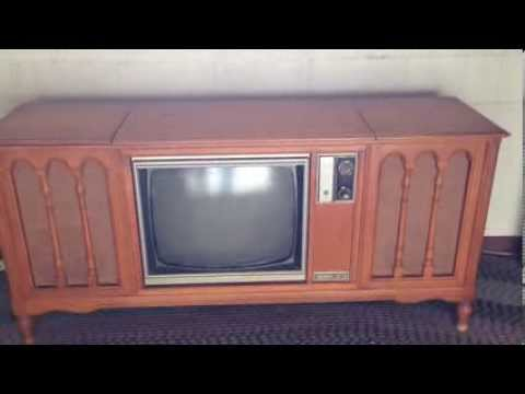 Zenith Tv Console W Radio Record Player Youtube