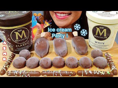 ASMR Magnum Ice Cream Party Mukbang 먹방 Eating Sounds