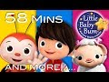 Happy Songs | Plus Lots More Nursery Rhymes | 58 Minutes Compilation From LittleBabyBum!