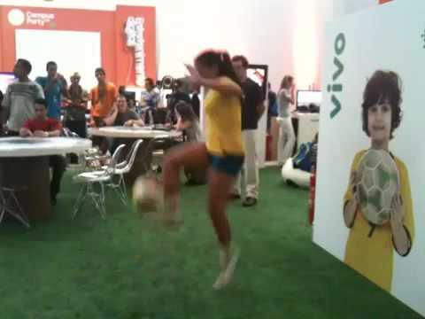 Ball Control (soccer) Brazilian girl