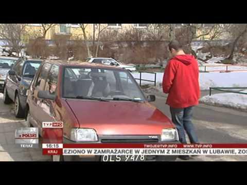 Seryjny złodziej Daewoo Tico w Elblągu (Raport z Polski TVP Info, 11.04.2013)