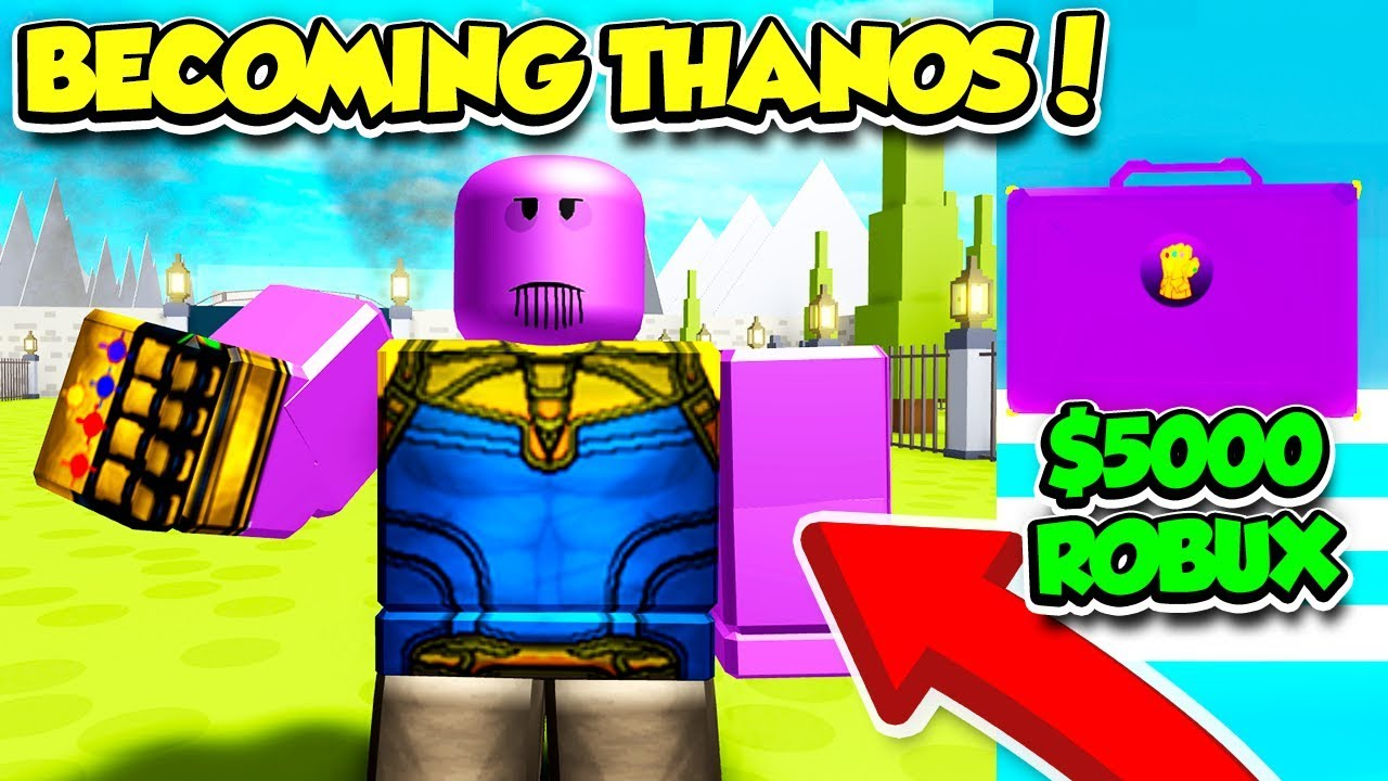 BECOMING THANOS IN SUPERHERO SIMULATOR FOR $5000 ROBUX!! *OVERPOWERED*  (Roblox)
