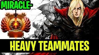 Heavy Teammates!! - Miracle- Invoker 7.18 Patch - Dota 2