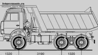 видео Камаз 55111 - технические характеристики и грузоподъёмность