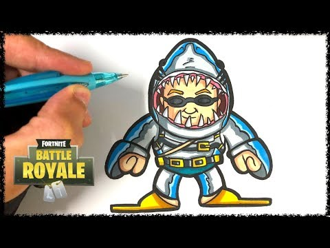 Comment Dessiner Le Requin Fortnite Tuto