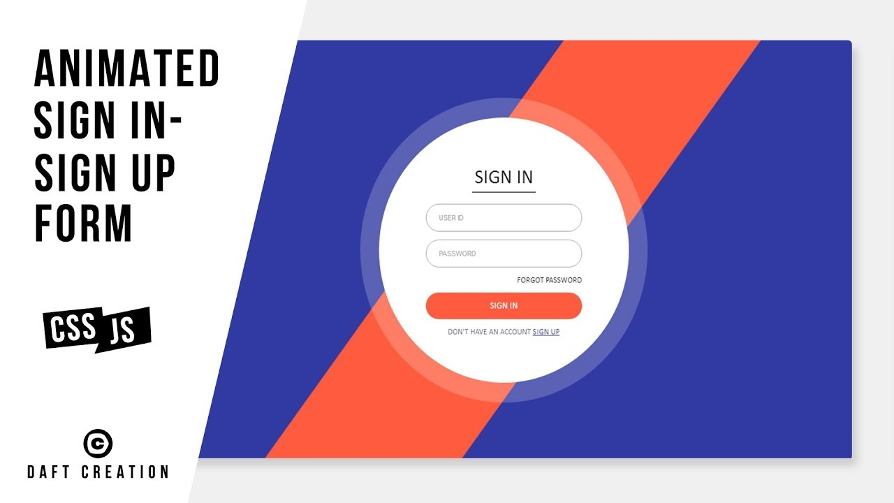 Animated sign in sign up form css jquery tutorial youtube animated sign in sign up form css jquery tutorial ccuart Choice Image