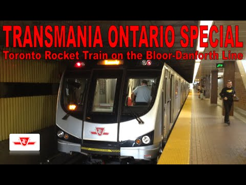 TO SPECIAL - Toronto Rocket Train on the Bloor-Danforth Line