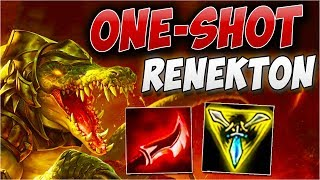 ONESHOT Renekton BUILD | Nie próbuj tego w domu!