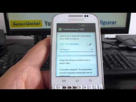 Como Descargar E Instalar Whatsapp En Android Samsung Galaxy Chat B5330 Español Full HD
