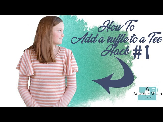 How to add a ruffle sleeve to a Tee (Hack #1)