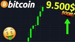 BITCOIN 9.500$ GROSSE HAUSSE MAINTENANT !? btc analyse technique crypto monnaie