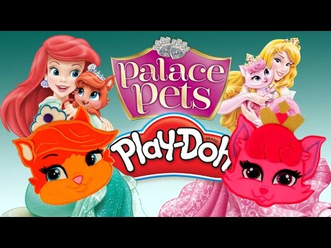 Disney Princess Aurora and Ariel Play Doh Compilation Palace Pets Treasure and Dreamy/Beauty