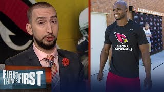 Nick Wright reacts to Adrian Peterson's debut with the Arizona Cardinals | FIRST THINGS FIRST