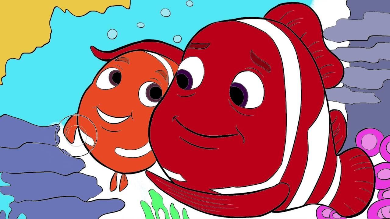 Kayip Balik Nemo Cizgi Film Karakter Boyama Sayfasi 9 Minik