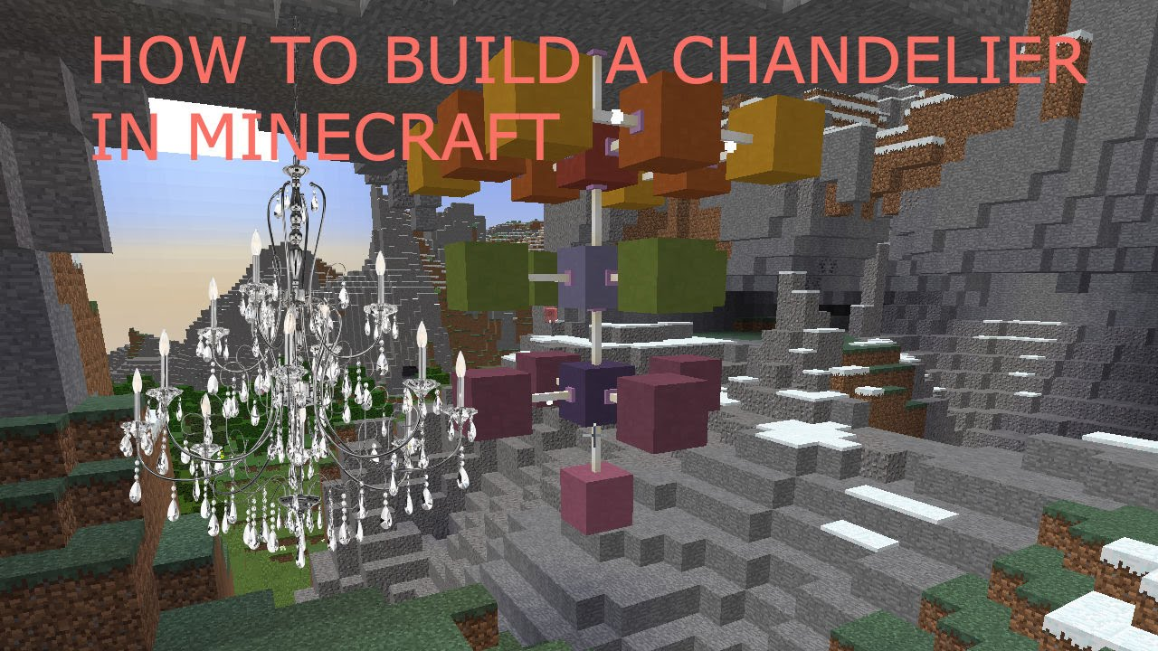 How To Build An Epic Working Chandelier In Minecraft Build