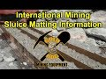 Commercial Gold Mining Sluice Mat Information