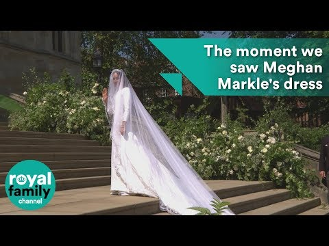 Royal Wedding: The moment we saw Meghan Markle's dress