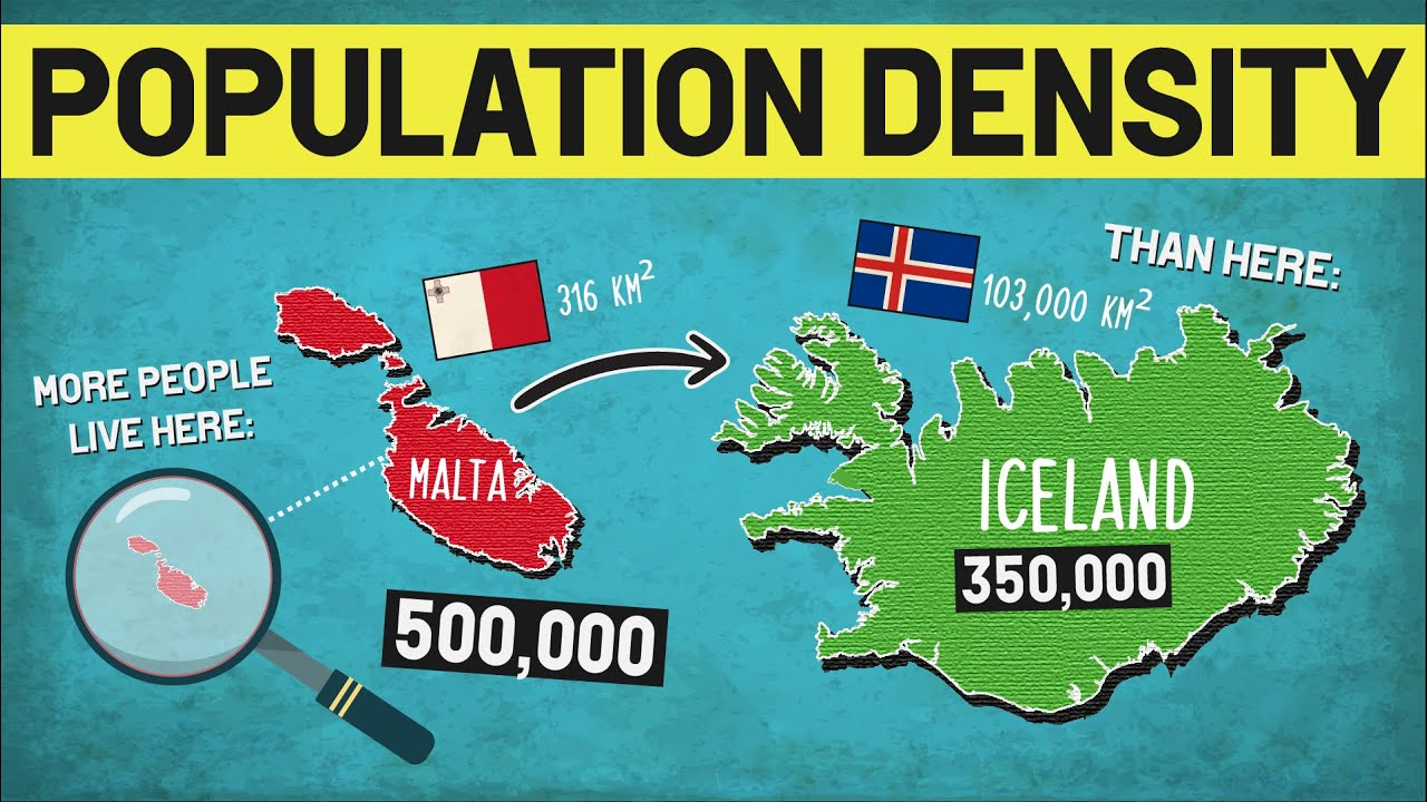 The Most & Least Densely Populated Countries
