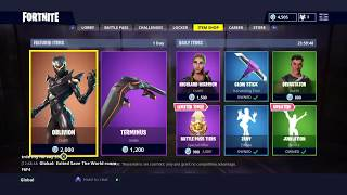 NEW FORTNITE OBLIVION SKIN AND TERMINUS GLIDER