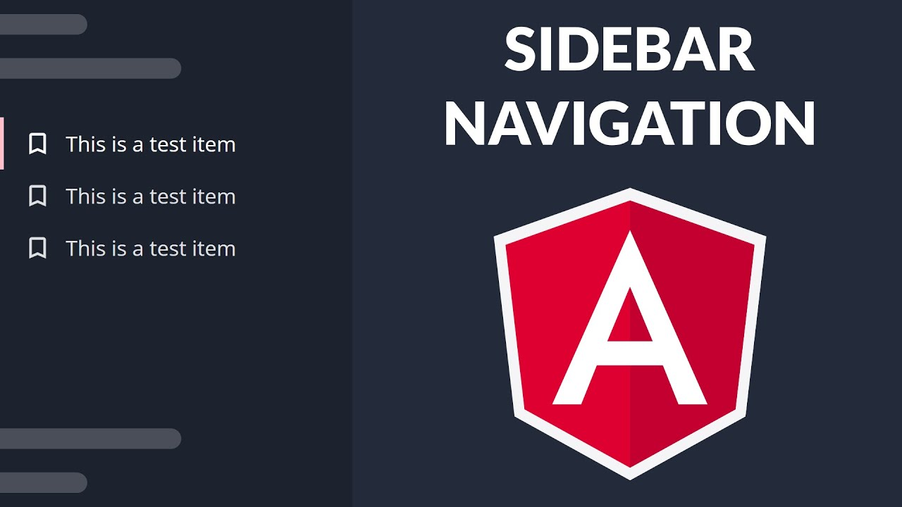 How to implement sidebar navigation in Angular