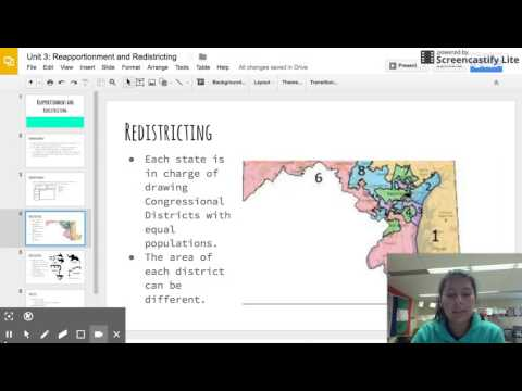 Unit 3: Reapportionment y Redistricting (Español)