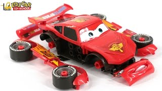 Learning Color Number With Disney PIXAR Cars Lightning McQueen Mack Truck Playset for kids car toys