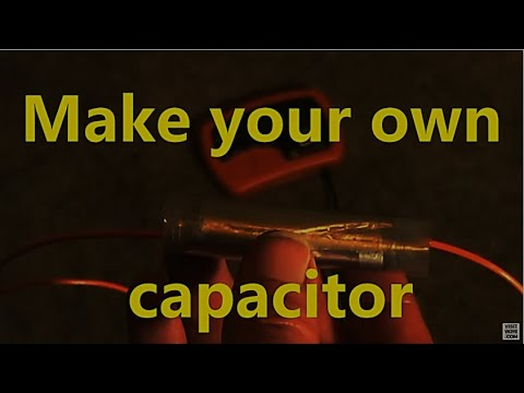 Make your own capacitor with stuff from the kitchen