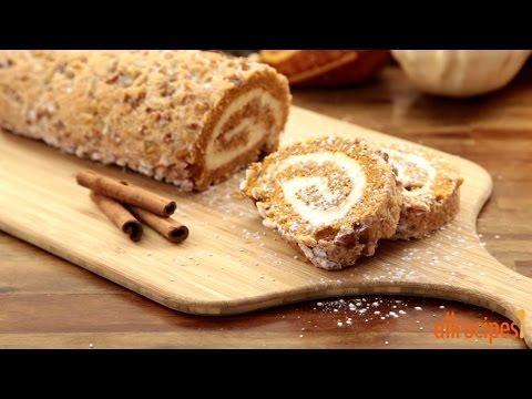 How to Make a Pumpkin Roll Cake | Pumpkin Recipes | Allrecipes.com