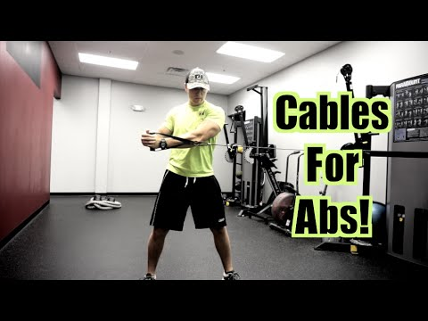 3 Cable Exercises for BETTER ABS! (Abdominals, Obliques ... Oblique Exercises Cable