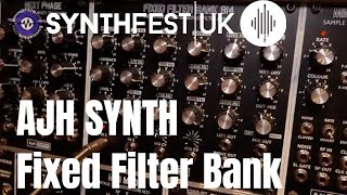 Synthfest 2018 - AJH Synth Fixed Filter Bank and S&H/Slew Modules