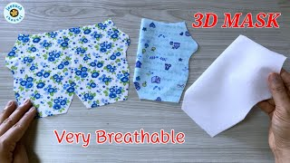 New Pattern Face Mask Sewing Tutorial DIY Breathable Face Mask Máscara 3D