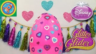 Mega Surprise Egg Glitter Gliders Disney Princesses. Mega Clip, Frozen, Rapunzel, Ariel, Aurora