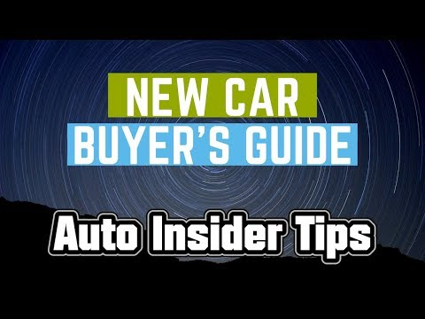 Auto Insider's Guide to Buying a New Car