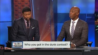 Chauncey & Jalen pick their dunk contest & 3 Point contest winners   NBA Countdown