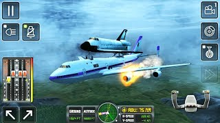 Flight Sim 2018 #9 NASA Shuttle Transport - Left Engine On Fire - Android Gameplay FHD