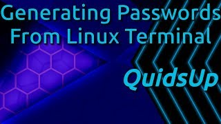 How to Create Random Passwords in Linux Terminal