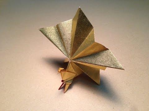 Origami Bird  Instructions / Peacock