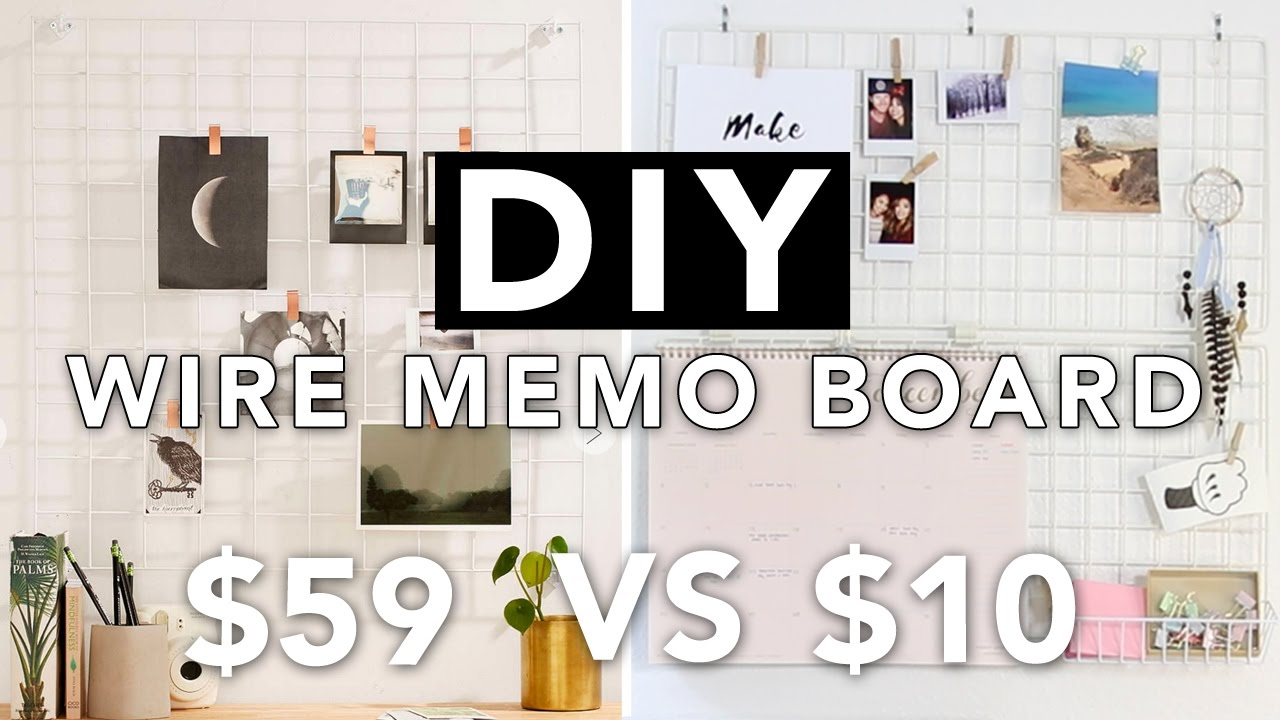 diy wire grid memo board wall grid board super easy beautybitten youtube. Black Bedroom Furniture Sets. Home Design Ideas