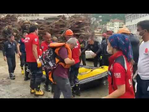 İtfaiye Müdürlüğümüz Kastamonu'da Arama Kurtarma Çalışmalarına Devam Ediyor